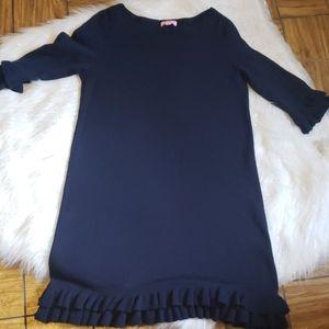 Lilly Pulitzer Helena Ruffle Sweater Dress. Sz L